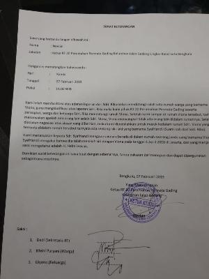 Pernyataan Helmi Jadi Saksi Nikah Siri Bukan Dari Ketua Rt