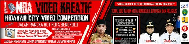 DPUPR Kota Bengkulu Lomba Video Kreatif Hidayah City Video Competition